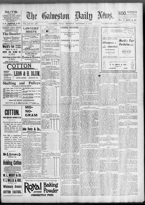 Primary view of object titled 'The Galveston Daily News. (Galveston, Tex.), Vol. 53, No. 230, Ed. 1 Thursday, November 8, 1894'.