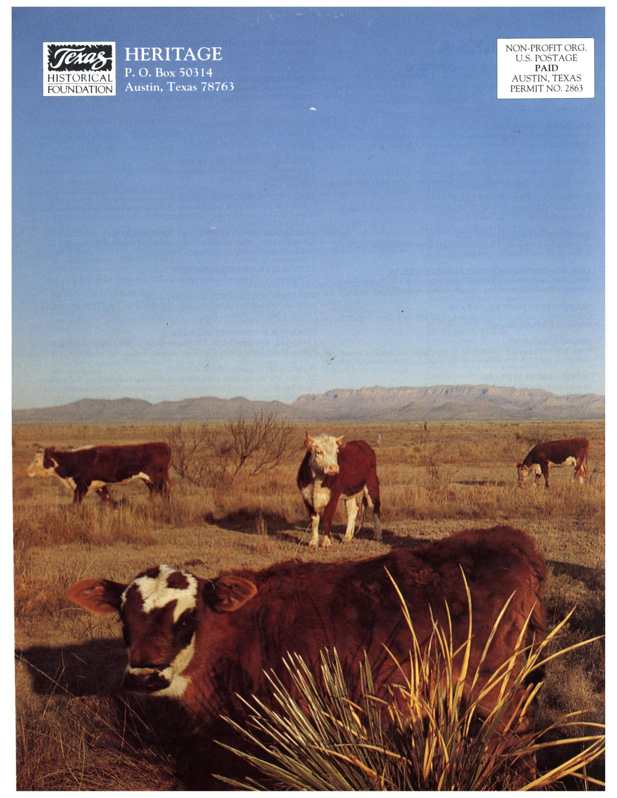 Heritage, Volume 12, Number 1, Winter 1994                                                                                                      Back Cover