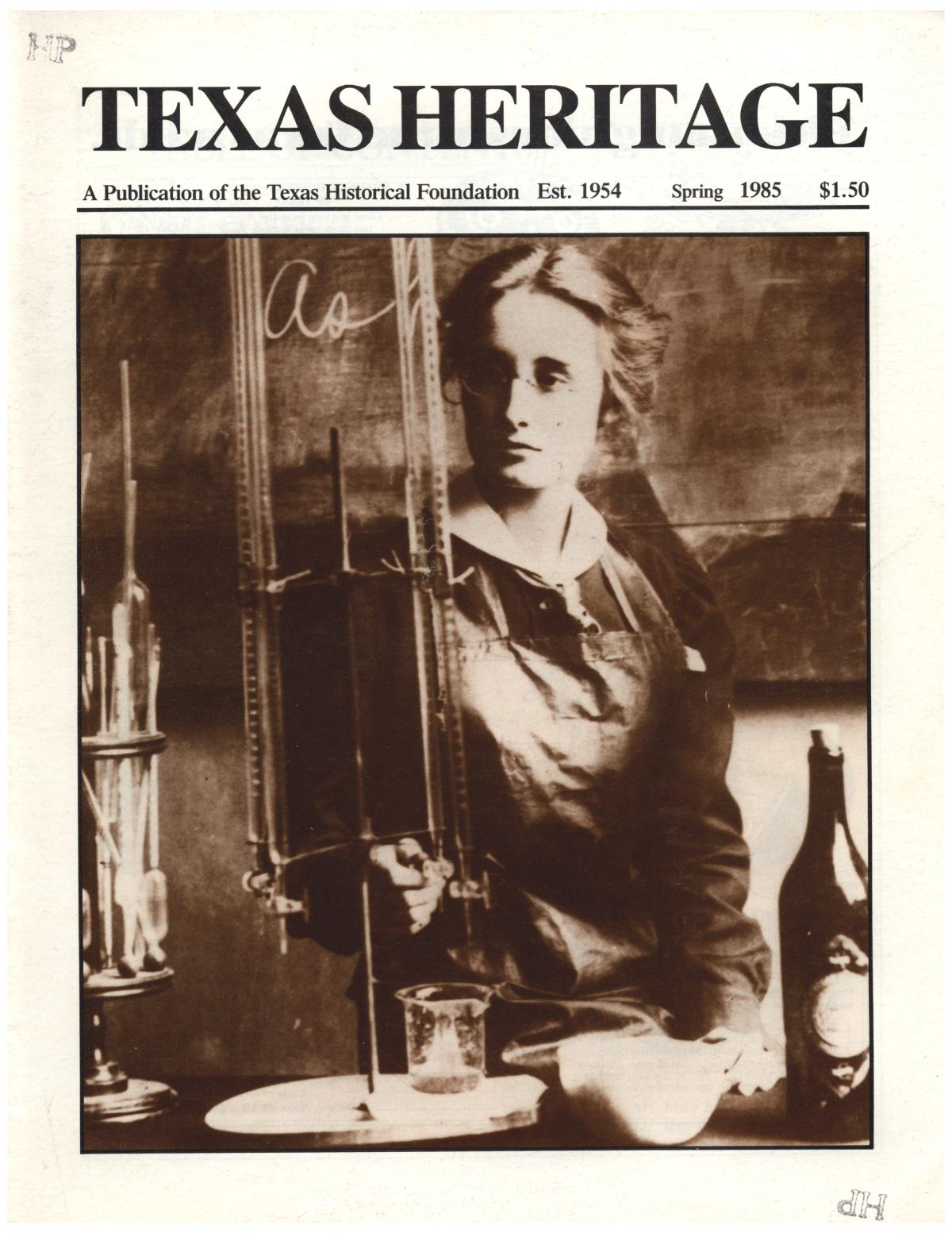 Texas Heritage, Volume 2, Number 2, Spring 1985                                                                                                      Front Cover
