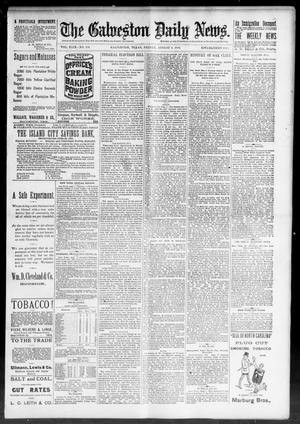 Primary view of object titled 'The Galveston Daily News. (Galveston, Tex.), Vol. 49, No. 101, Ed. 1 Friday, August 8, 1890'.
