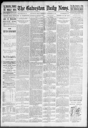 Primary view of object titled 'The Galveston Daily News. (Galveston, Tex.), Vol. 49, No. 141, Ed. 1 Wednesday, September 17, 1890'.