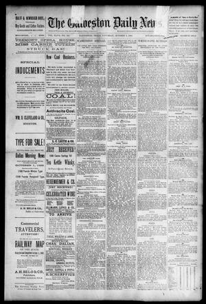 Primary view of object titled 'The Galveston Daily News. (Galveston, Tex.), Vol. 47, No. 163, Ed. 1 Saturday, October 6, 1888'.