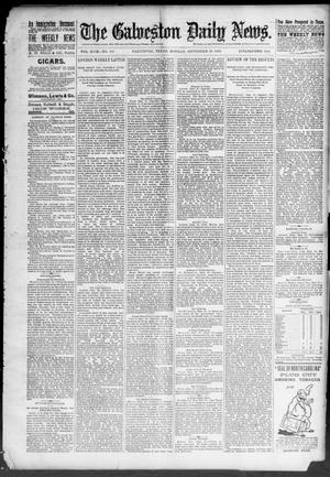 Primary view of object titled 'The Galveston Daily News. (Galveston, Tex.), Vol. 49, No. 153, Ed. 1 Monday, September 29, 1890'.