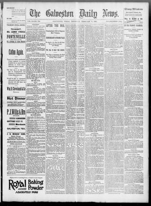 Primary view of object titled 'The Galveston Daily News. (Galveston, Tex.), Vol. 51, No. 322, Ed. 1 Thursday, February 9, 1893'.