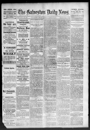 Primary view of object titled 'The Galveston Daily News. (Galveston, Tex.), Vol. 46, No. 315, Ed. 1 Tuesday, March 6, 1888'.