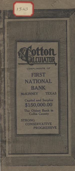 Primary view of object titled 'Cotton Calculator'.