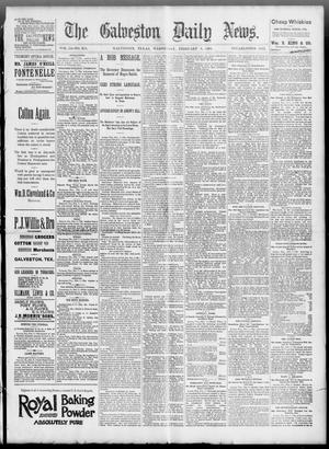 Primary view of object titled 'The Galveston Daily News. (Galveston, Tex.), Vol. 51, No. 321, Ed. 1 Wednesday, February 8, 1893'.