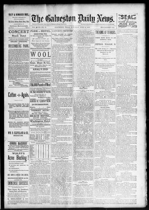 Primary view of object titled 'The Galveston Daily News. (Galveston, Tex.), Vol. 47, No. 51, Ed. 1 Saturday, June 16, 1888'.