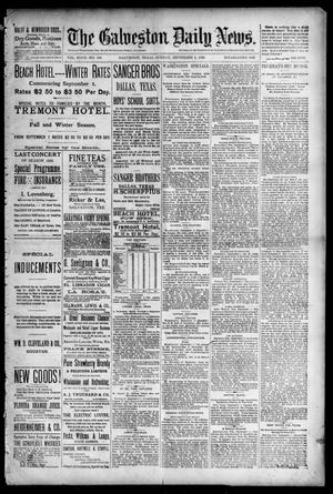 Primary view of object titled 'The Galveston Daily News. (Galveston, Tex.), Vol. 47, No. 129, Ed. 1 Sunday, September 2, 1888'.