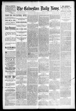 Primary view of object titled 'The Galveston Daily News. (Galveston, Tex.), Vol. 48, No. 259, Ed. 1 Saturday, January 11, 1890'.