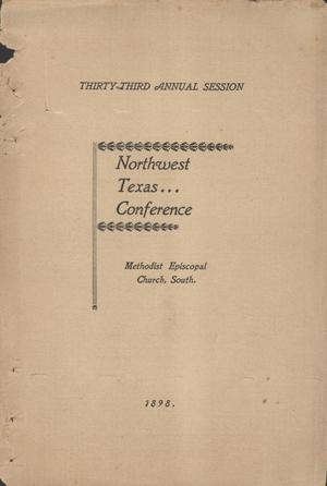 Journal of Proceedings of the Thirty-Third Annual Session of the Northwest Texas Conference, of the Methodist Epsicopal Church, South.