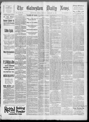 Primary view of object titled 'The Galveston Daily News. (Galveston, Tex.), Vol. 51, No. 334, Ed. 1 Tuesday, February 21, 1893'.