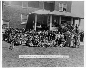 Primary view of object titled '1935 Highland Park Methodist Church Congregation'.