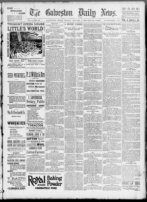 Primary view of object titled 'The Galveston Daily News. (Galveston, Tex.), Vol. 51, No. 290, Ed. 1 Sunday, January 8, 1893'.
