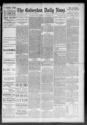 Primary view of object titled 'The Galveston Daily News. (Galveston, Tex.), Vol. 48, No. 207, Ed. 1 Wednesday, November 20, 1889'.
