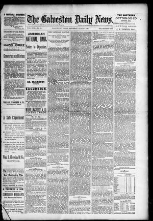 Primary view of object titled 'The Galveston Daily News. (Galveston, Tex.), Vol. 49, No. 61, Ed. 1 Saturday, June 28, 1890'.