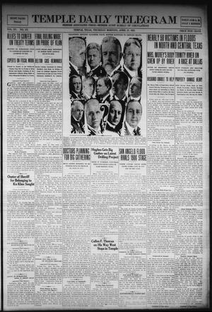 Primary view of Temple Daily Telegram (Temple, Tex.), Vol. 15, No. 137, Ed. 1 Thursday, April 27, 1922