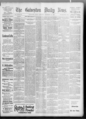 Primary view of object titled 'The Galveston Daily News. (Galveston, Tex.), Vol. 51, No. 184, Ed. 1 Saturday, September 24, 1892'.