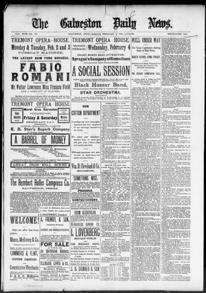 Primary view of The Galveston Daily News. (Galveston, Tex.), Vol. 49, No. 277, Ed. 1 Sunday, February 1, 1891
