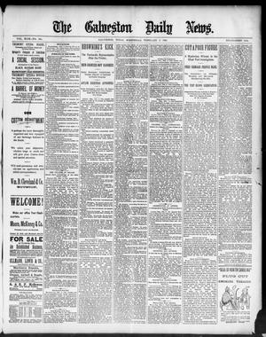 Primary view of object titled 'The Galveston Daily News. (Galveston, Tex.), Vol. 49, No. 280, Ed. 1 Wednesday, February 4, 1891'.