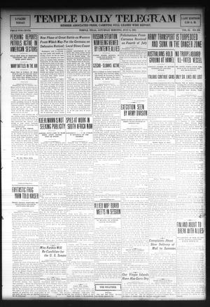 Primary view of object titled 'Temple Daily Telegram (Temple, Tex.), Vol. 11, No. 229, Ed. 1 Saturday, July 6, 1918'.