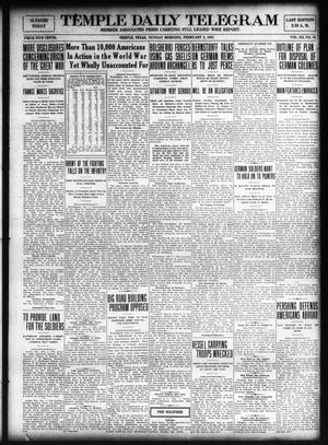 Primary view of object titled 'Temple Daily Telegram (Temple, Tex.), Vol. 12, No. 75, Ed. 1 Sunday, February 2, 1919'.