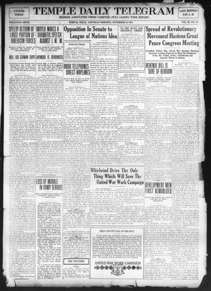 Primary view of Temple Daily Telegram (Temple, Tex.), Vol. 11, No. 362, Ed. 1 Saturday, November 16, 1918