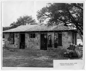 Primary view of object titled '[Peyton-Shuler guest lodge during construction]'.