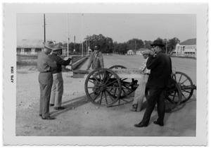Primary view of object titled '[Five men and an old wagon]'.