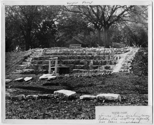 Primary view of object titled '[Stone structure at Glen Lake Camp]'.