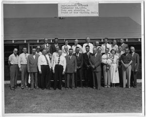 Primary view of object titled '[Group at a Lay-Leaders Retreat in 1950]'.