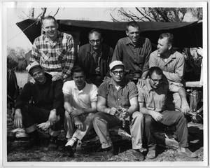 Primary view of object titled '[Members of the Rainbow Camp]'.