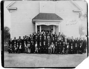 Primary view of object titled '[Methodist Conference at Rising Star]'.