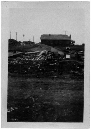 Primary view of object titled '[Photograph of Hurricane Damage]'.