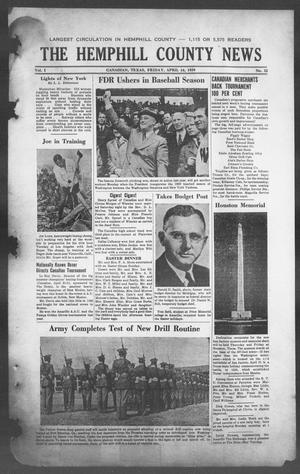Primary view of object titled 'The Hemphill County News (Canadian, Tex), Vol. 1, No. 32, Ed. 1, Friday, April 14, 1939'.