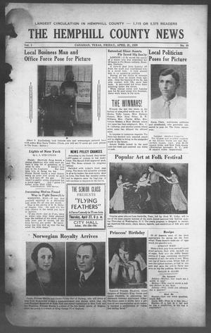 Primary view of object titled 'The Hemphill County News (Canadian, Tex), Vol. 1, No. 33, Ed. 1, Friday, April 21, 1939'.