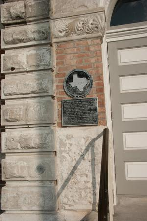 Primary view of object titled '[Grimes County Courthouse Plaque]'.
