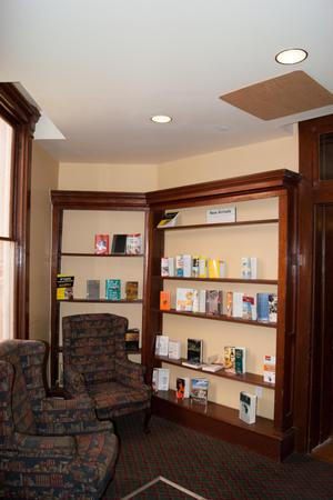 Armchairs by Bookshelf
