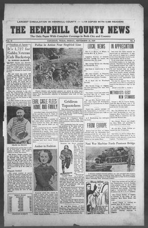 Primary view of object titled 'The Hemphill County News (Canadian, Tex), Vol. 2, No. 2, Ed. 1, Friday, September 22, 1939'.