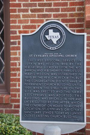 Primary view of object titled '[St. Cyprian's Episcopal Church Plaque]'.