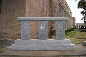 Primary view of object titled '[Veterans Memorial by Courthouse]'.