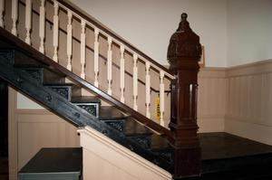 Primary view of object titled '[Photograph of Banister and Railing]'.