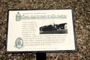 Primary view of object titled '[Plaque on Downtown Walking Tour]'.