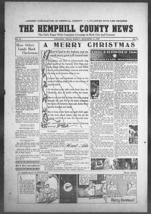 Primary view of object titled 'The Hemphill County News (Canadian, Tex), Vol. 2, No. 15, Ed. 1, Friday, December 22, 1939'.