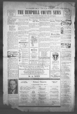 The Hemphill County News (Canadian, Tex), Vol. 2, No. 34, Ed. 1, Friday, May 3, 1940