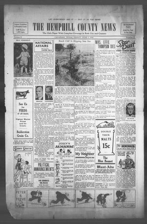 Primary view of object titled 'The Hemphill County News (Canadian, Tex), Vol. 2, No. 39, Ed. 1, Friday, June 7, 1940'.