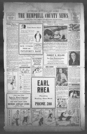 The Hemphill County News (Canadian, Tex), Vol. 2, No. 50, Ed. 1, Friday, August 23, 1940