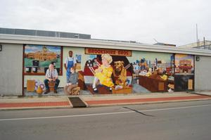 Primary view of object titled '[Brookshire Brothers Mural]'.