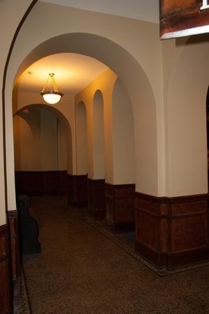 Primary view of object titled '[Hallway in Courthouse]'.