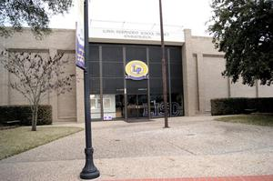 Primary view of object titled '[Lufkin ISD Administration Building]'.